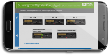 "Online Trainingssoftware ""digitaler Tachograph"""